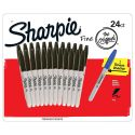 Scatola da 24 pennarelli Sharpie a punta fine Neri (con pennarello blu extra)