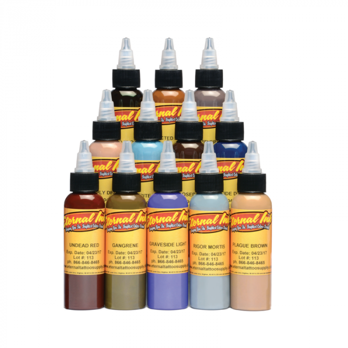 Set Completo di 12 Inchiostri Eternal Ink Zombie Colours 30ml (1oz)
