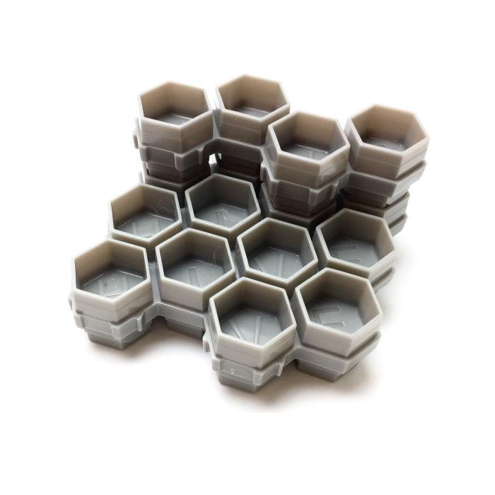 Confezione da 50 (200 tappini) Hive Caps Soldier Bee Grigi