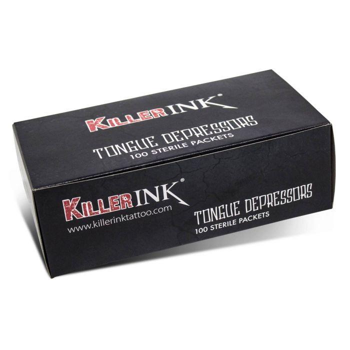 Scatola da 100 Abbassalingua Sterili Killer Ink in Confezioni Sterili