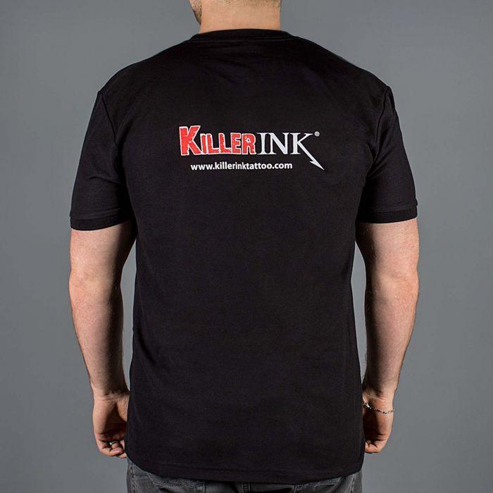 Maglietta Collo Rotondo Killer Ink Nera