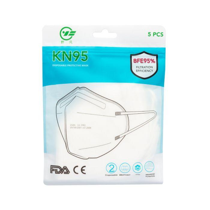 Confezione da 5 maschere chirurgiche KN95