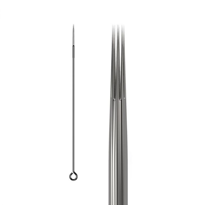 Scatola da 50 Aghi KWADRON 0,25MM LONG TAPER - Round Liner