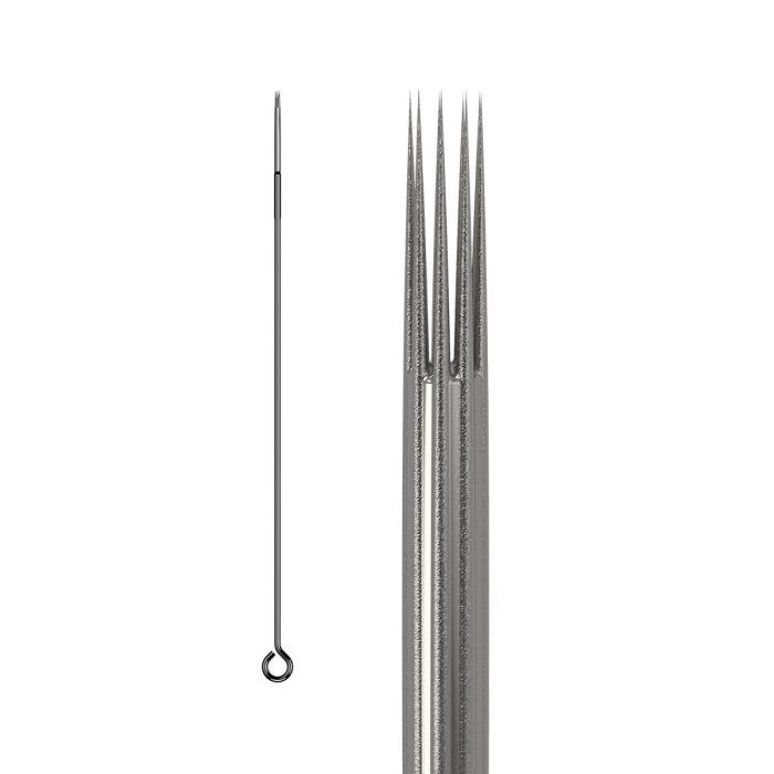 Scatola da 50 Aghi KWADRON 0,35MM LONG TAPER BUGPIN RUVIDO - Round Shader