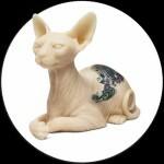 Gatto Sphynx e Inkenstein in silicone tatuabili